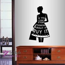 Wall Vinyl Decal Buy It Fashion Girls Dress Shopping Boutique Style Decor 2012