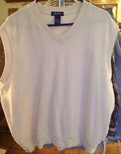 Big Men's Sleeveless XXL White IZOD Sweater Vest