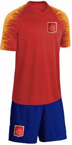 Spanien Trikot Set Kinder Fußball Fan Zweiteiler Rot Blau