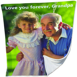 Customized Photo Fleece Throw Blanket With Personalized Picture Gifts for Family