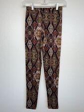 Wet Seal Womens/Jr Size Small Leggings Multi-colored Red Pattern Soft Pants