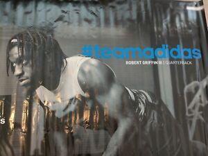 Robert Griffin III RG3 HUGE Vinyl Poster 5'x5' Adidas Rare Find!