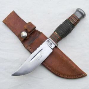 WADE & BUTCHER Sheffield, England rare 1900th TEDDY Hunter-Skinner knife, sheath