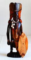 Statuetta - Legno - Africa Guerriero africano Maasai