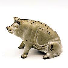 Antique Cast Iron Painted Pig Piggy Bank! 133
