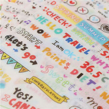 6x/Set Trendy Calendar Paper Sticker Scrapbook Calendar Diary Planner Decor New