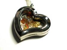 Dog 'Rainbow Bridge' pendant locket with Memorial charms & Swarovski beads.