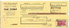 ORDRE DE PAIEMENT ETAB STOKO VINS D AUVERGNE CAFE A NESCHERS  TIMBRES FISCAUX