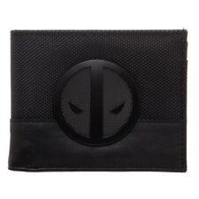 Marvel Comics Deadpool Black Logo Badge Bi-Fold Wallet