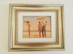 Mad Dogs by Jack Vettriano Framed and Mounted Art Print Chunky Silver Frame NEW