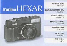 Konica Hexar Black Instruction Manual multi-language Original