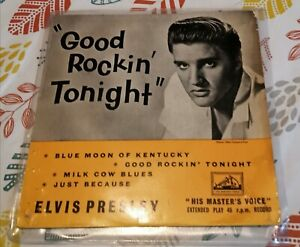 Elvis presley good rockin tonight HMV ep records good+