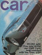 CAR 02/1967 featuring Ford GT40, Sunbeam Tiger, Lotus Europa, Cortina, Viva