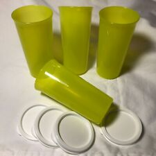 New Tupperware Tumblers - Set of 4 - Small 9oz - Margarita Green - With Seals