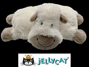 """JELLYCAT Truffles the sheep lamb plush stuffed animal pillow 14"""" travel size"""