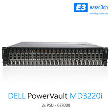 "Dell PowerVault MD3220i SAN Storage Array 24x 2.5"" Bay 1Gb iSCSI Controller"