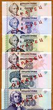 Transnistria, SPECIMEN SET 1;5;10;25;50;100 2007, UNC