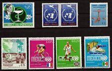 149T3 PARAGUAY 7 sellos nuevos :Sport,Derecha de la'hombre,Medicina