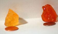 2 pieces Mexican Fire Opal Orange 33.5cs Honey 44.0cts Facet Rough
