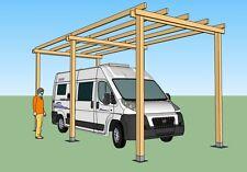 Box camper in legno 8x3 h.3,5  garage pergola in pino impregnato in autoclave