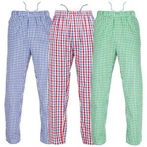 Ritzy Kids/Boys/Men Pajama Pants 100% Cotton Plaid Woven Poplin - 3 Pack