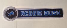 "Reggie Bush FATHEAD Official PLAYER NAME Banner Sign 26.5"" x 6.5"" Lions Graphics"