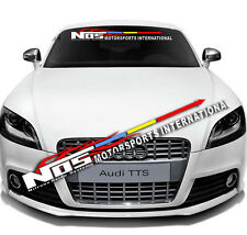 Auto Front Back Windshield Window Exterior Glass Banner Decal Sticker For NOS