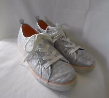 Crazy 8 Silver & Peach Animal Print Girl's Sneakers 5