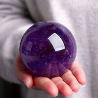 40~70mm Natural Amethyst Quartz Stone Sphere Crystal Ball Healing Gemstone