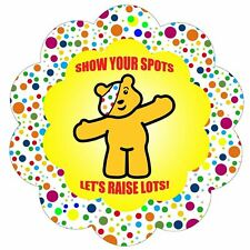 children in need show your spots 10% charity iron on t shirt transfer A5