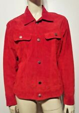 Tasha Polizzi T.P. Saddleblanket & Co. Red Suede Jacket Sz L