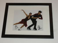 ALEX & MAIA SHIBUTANI SIGNED FRAMED MATTED 8X10 PHOTO 2018 OLYMPICS SKATING B