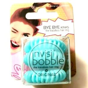 New Invisibobble The Traceless Hair Ring Original 3 Blue Rings per package B52.2