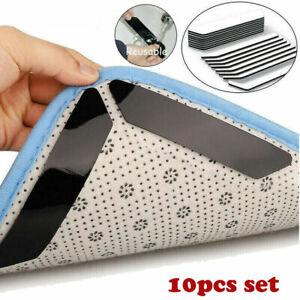 10Pcs Anti Slip Soft Mat Rug Carpet Anti Curling Rug Grippers Tape Floor Home