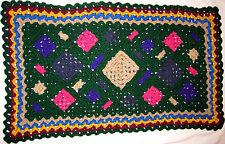 HANDMADE Crochet AFGHAN STYLE Knit THROW Area RUG vtg LIVING Bath ROOM & KITCHEN