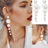 ziemlich frauen ohr hengste ohrringe baumeln hochzeit schmuck mehrere perlen