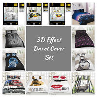 Luxurious 3D Effect Bedding Set Duvet Cover with Pillocases  in Double,King Size