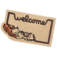 Zerbino rettangolare gatto antiscivolo assorbente 40x70 tappeto esterno welcome