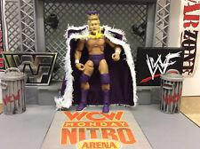Custom mattel Elite WWF NWA King Harley Race figure w/ Crown +Robe