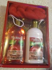 Modesa Body Apple Orchard Body Lotion And Shower Gel With Pouf