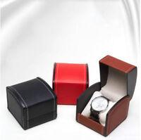 Square Watch Box Faux Leather Organizer Travel Wristwatch Storage Bracelet Case