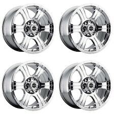 "Set 4 20"" Vision 396 Assassin 20x9 8x6.5 -12mm Chrome Wheels 396-2981PC-12 Rims"