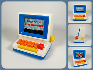 TOMY Tutor Play Computer   Retro Vintage 80s Learning Toy - Spelling Numbers