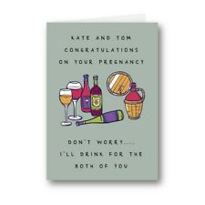 Personalised Card Congratulations Pregnancy Drink For Both of You Baby Funny 820