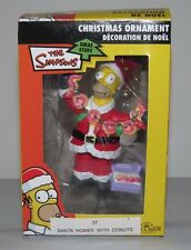 2007 The Simpsons Santa HOMER With Donuts Christmas Ornament NIB NEW