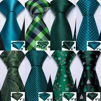 100% Silk Mens Ties Set Red Blue Black Green Gold Solid Paisley Geometric TIE US