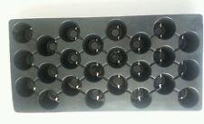 10 Black Plastic PLUG FLATS 24 cells per flat- INSERTS SEED STARTING plug sheets