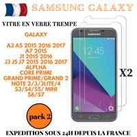 VERRE TREMPE X2 GALAXY J3/J5/J7/A3/A5/S3/S4/S5/S6/S7 FILM VITRE PROTECTION ECRAN