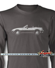 Mazda MX-5 Miata Convertible Long Sleeves T-Shirt - Multiple Colors and Sizes
