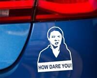 How dare you meme Greta Thunberg decal sticker car vinyl JDM funny bumper UN